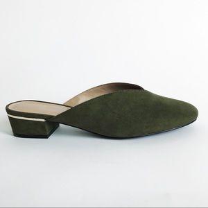 ANN TAYLOR FACTORY Block Heel Mules NWOT